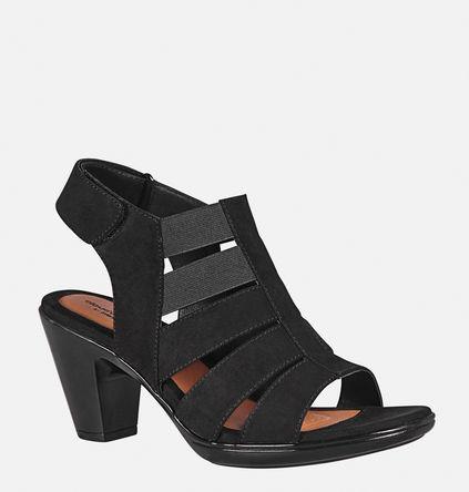 black strappy slingback heel
