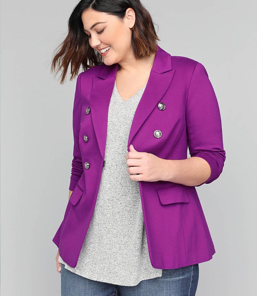 purple plus size jacket