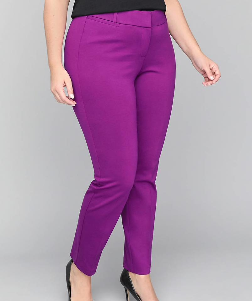 purple plus size pants