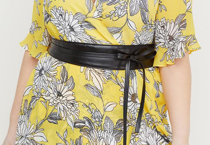 black plus size obi belt