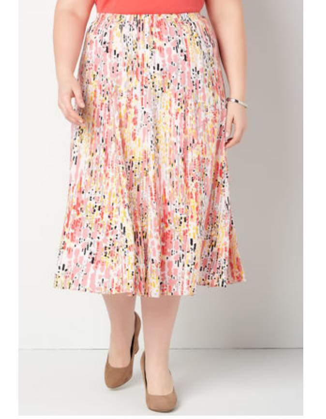 plus size midi skirt