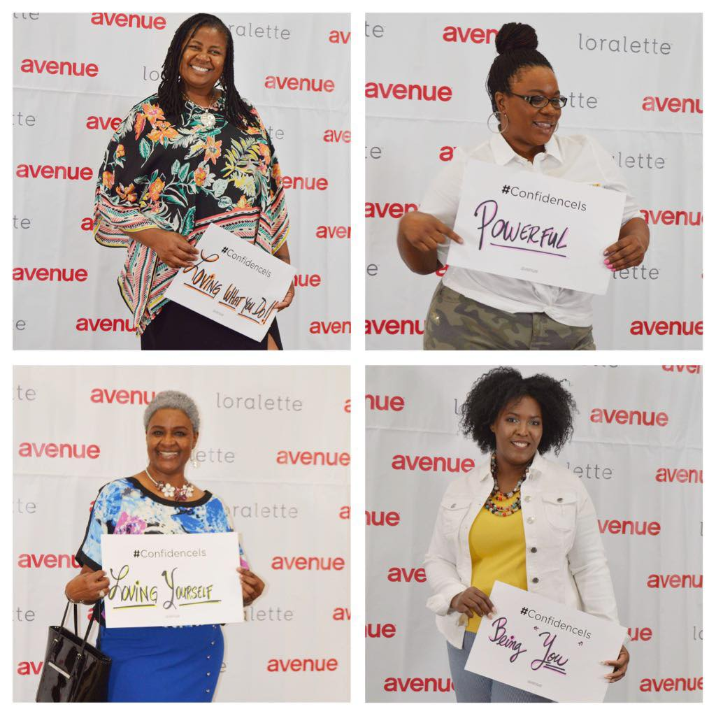 Avenue plus your confidence is showing campaign