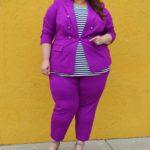 Look #18 of 2019: Plus Size Royal Purple Suit