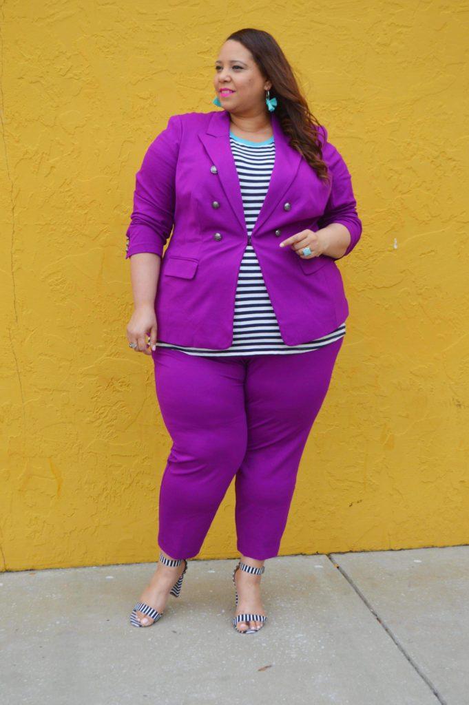plus size royal purple suit