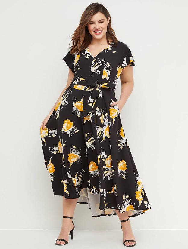 tropical print lena dress