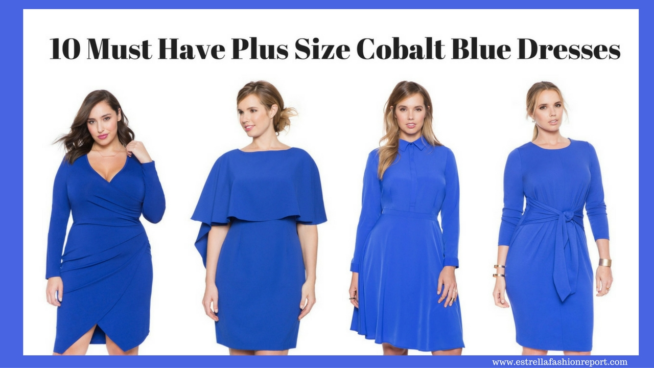 10 Must Have Plus Size Cobalt Blue Dresses – Estrella ...