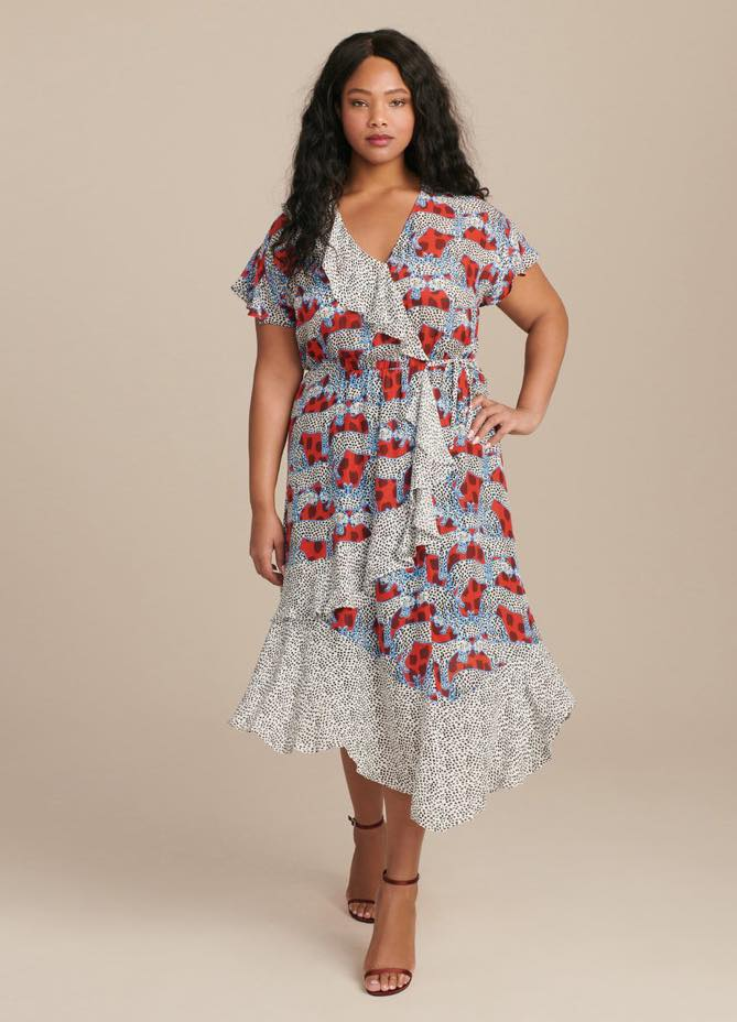 plus size parker reina combo dress from 11 honore