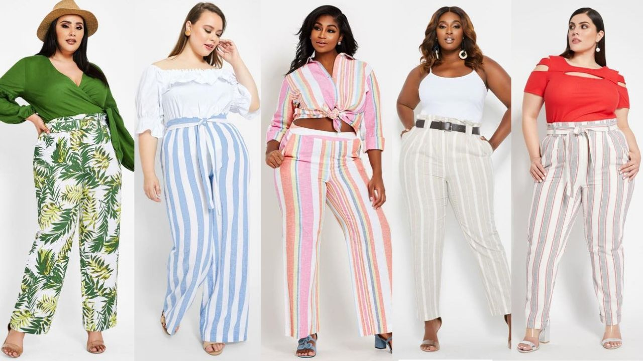 plus size linen pants
