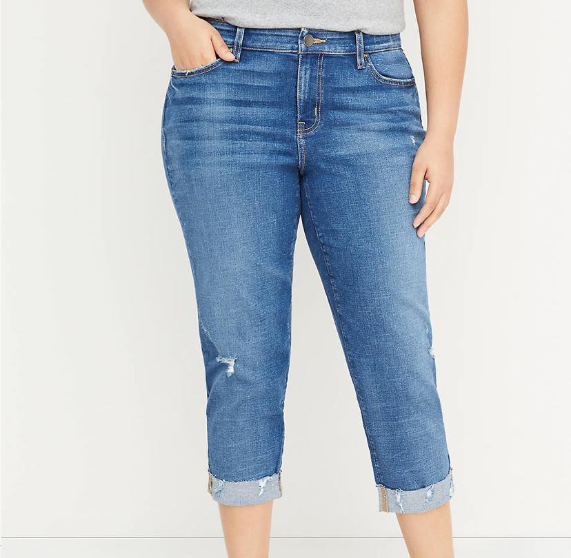 plus size girlfriend jeans from lane bryant