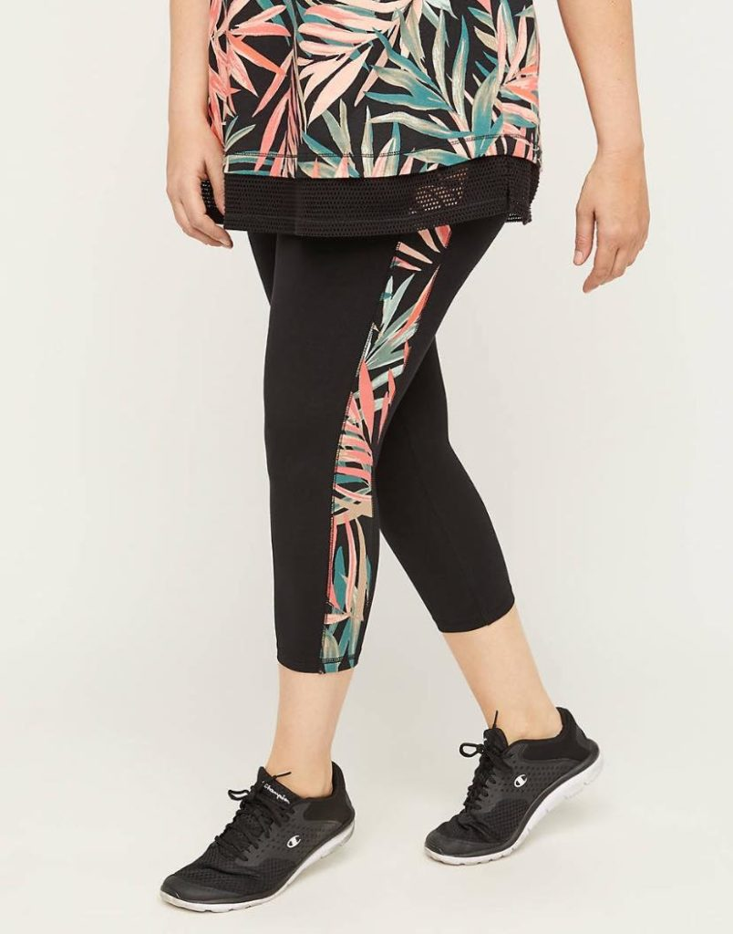 Palm Leaf Capri Leggings