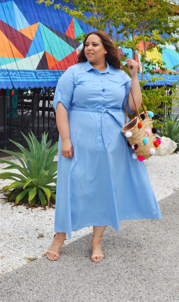 farrah estrella wearing a dress from ashley stewart