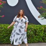 Look #28 Of 2019: Feather Print Wrap Maxi Dress
