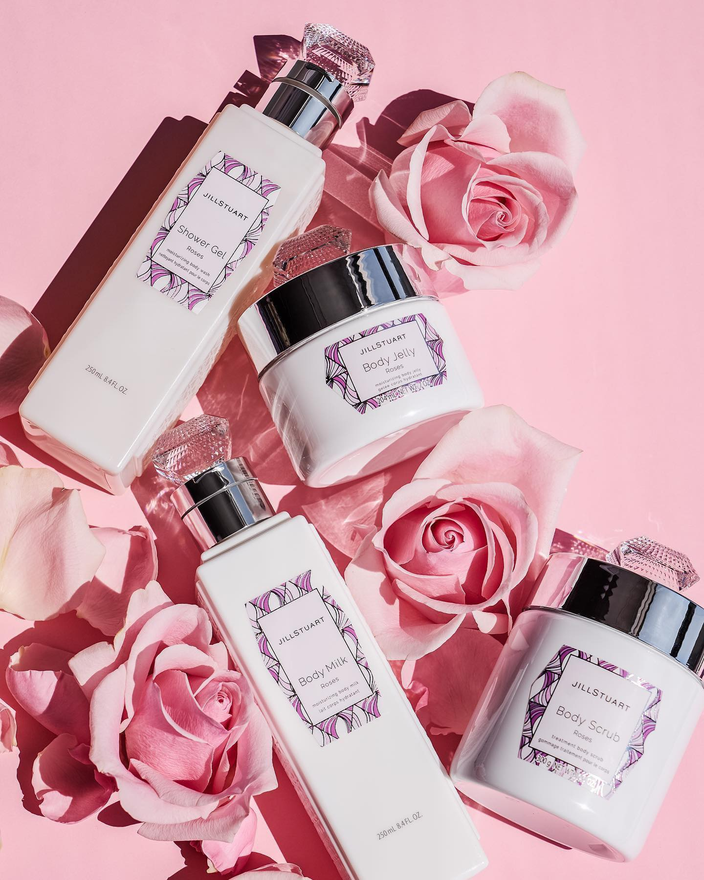 jill stuart beauty rose scented bath and body collection