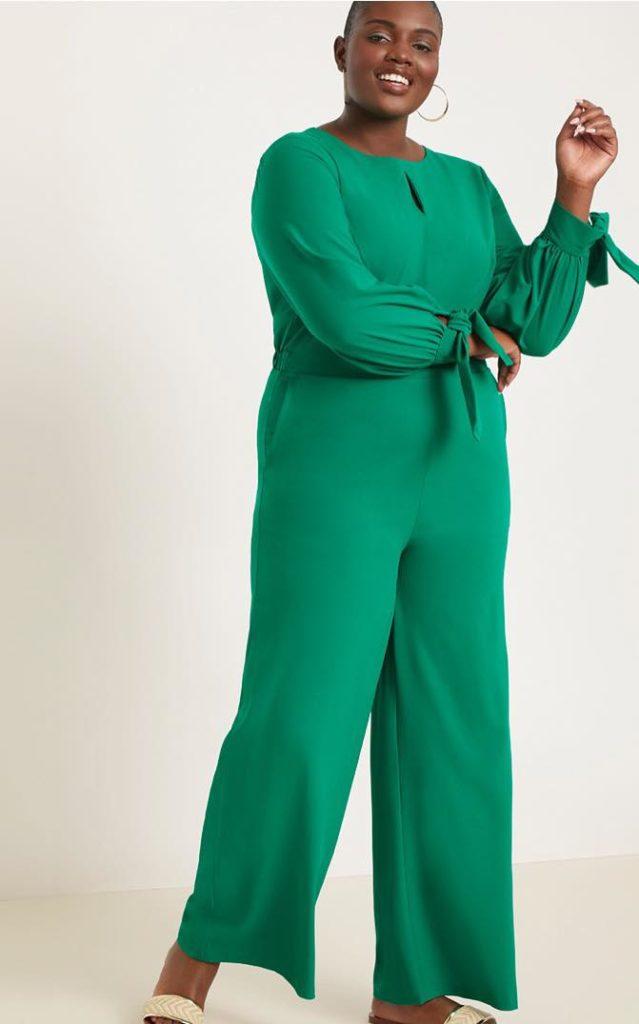 green plus size jumpsuit