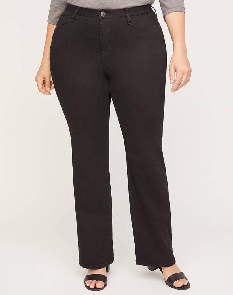 black plus size bootcut jeans