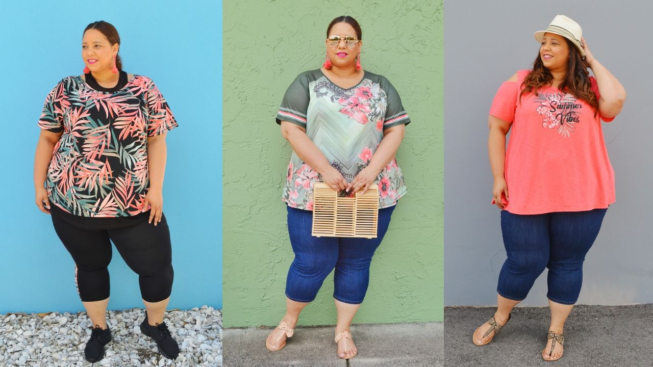 plus size blogger farrah estrella wearing catherines