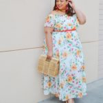 Look # 31 of 2019: Plus Size Off Shoulder Floral Maxi Dress