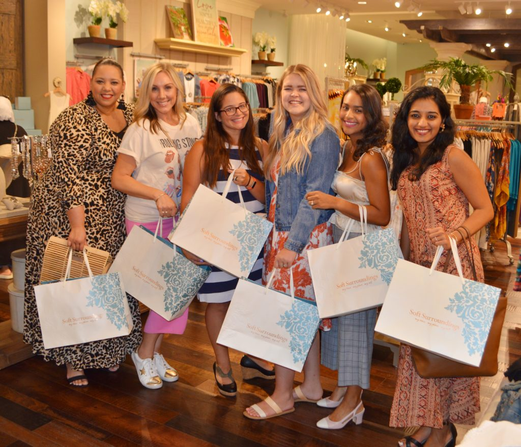 Tampa fashion blogger at the opening of Soft Surroundings Store at International plaza