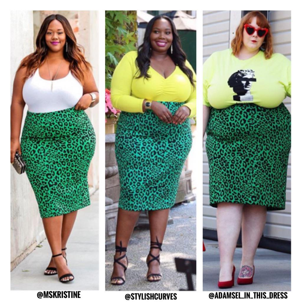green leopard print skirt