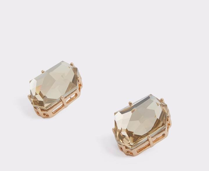 champagne color earrings