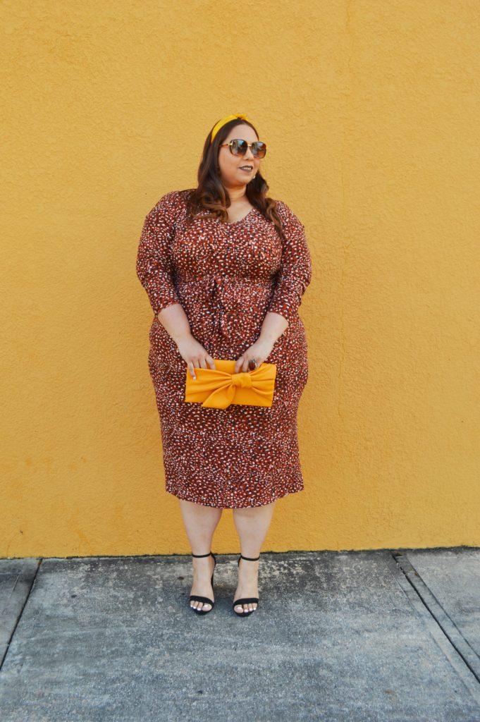 Tie Waist Plus Size Midi Dress From Eloquii
