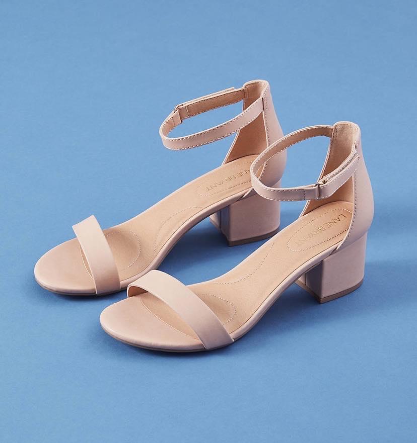 Short Ankle Strap Block Heel Sandal