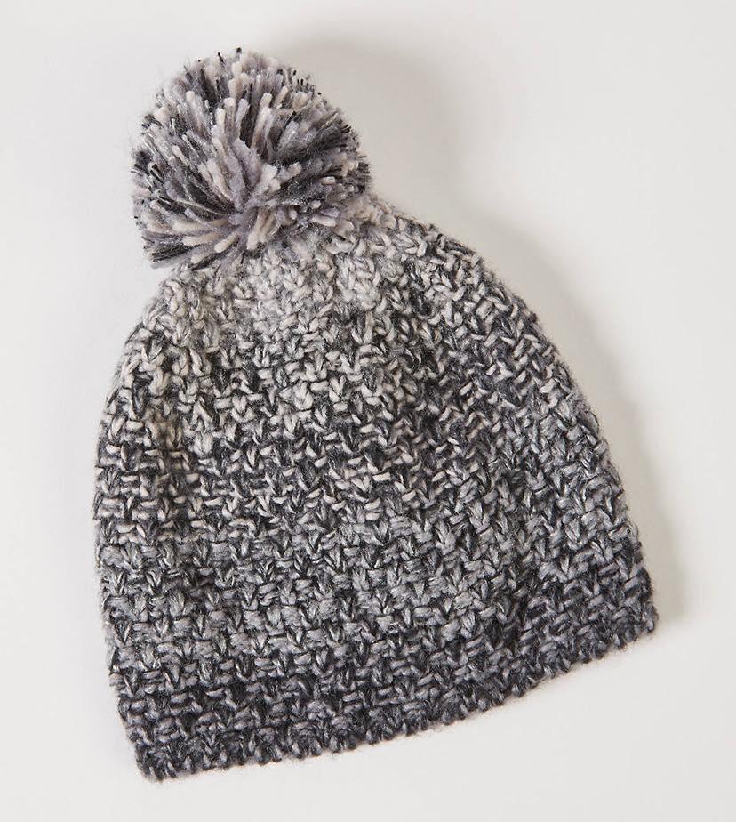 Ombre Pom Pom Hat