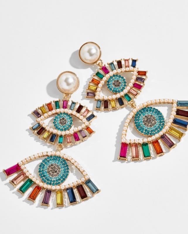 Ayn Evil Eye Earrings