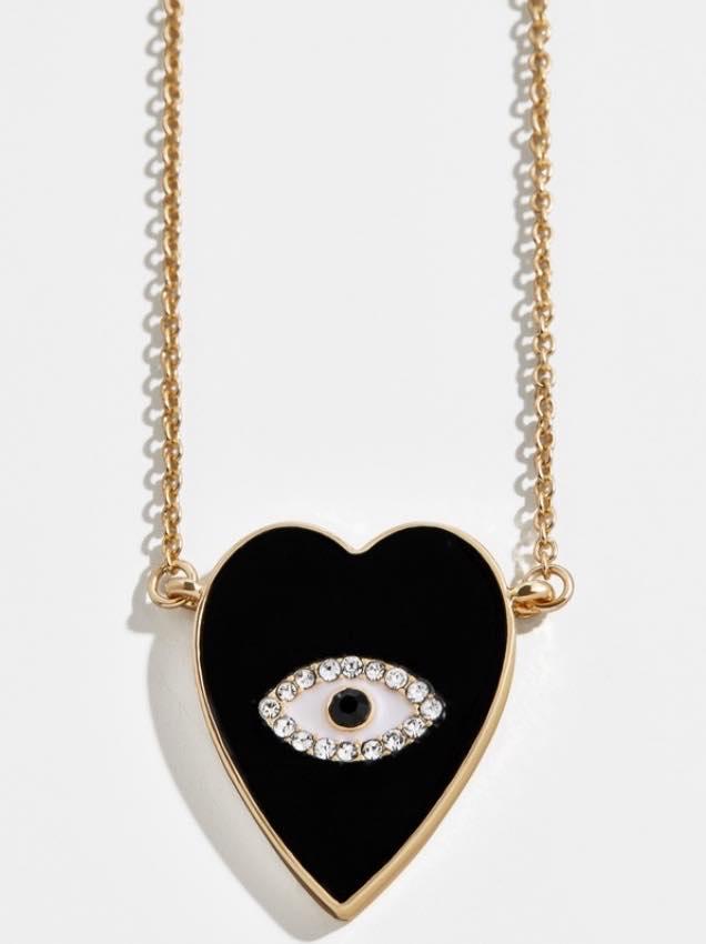 black evil eye pendant