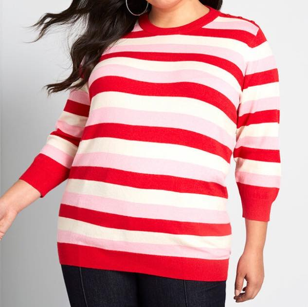 plus size Charter School Pullover Sweater