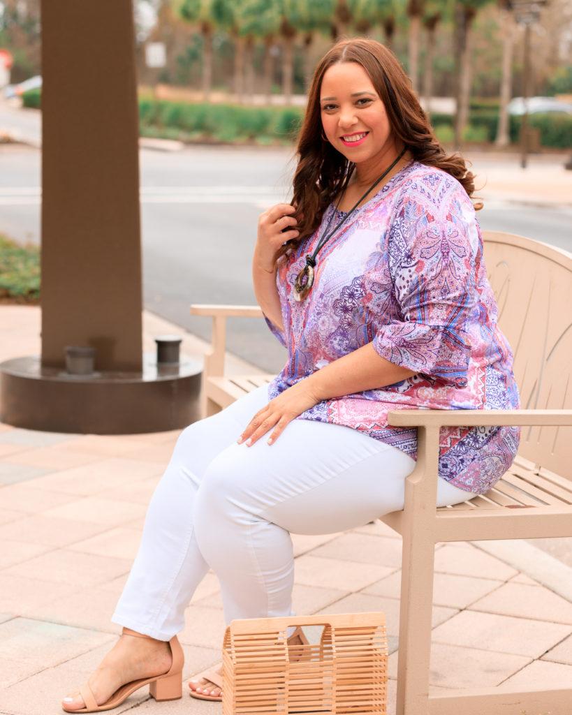 Tampa fashion blogger farrah estrella wearing Catherines plus sizes