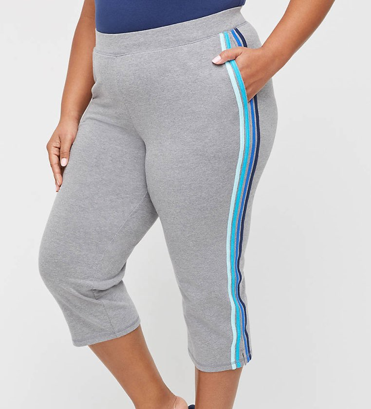 Eastview Relaxed Capri Grey plus size activewear set from catherines