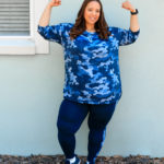 Navy Camo Print Activewear