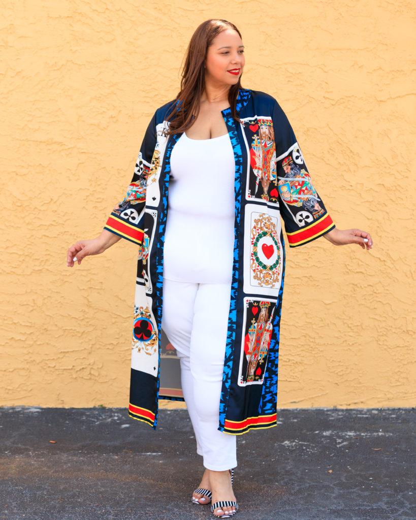 Farrah Estrella wearing a kimono