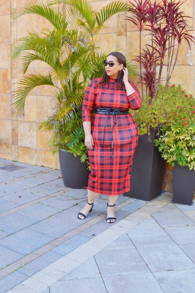 plus size plaid dress