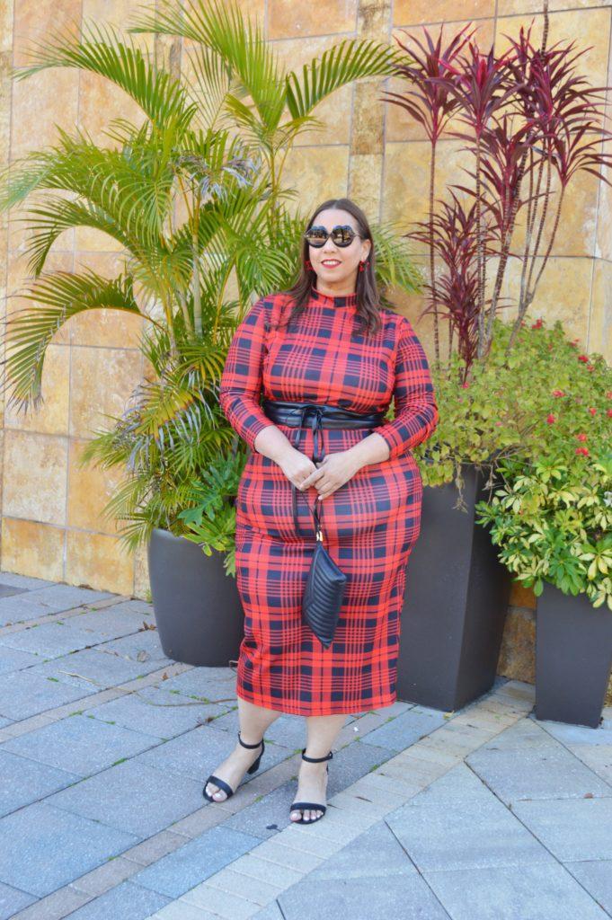 plaid plus size dress from Shein