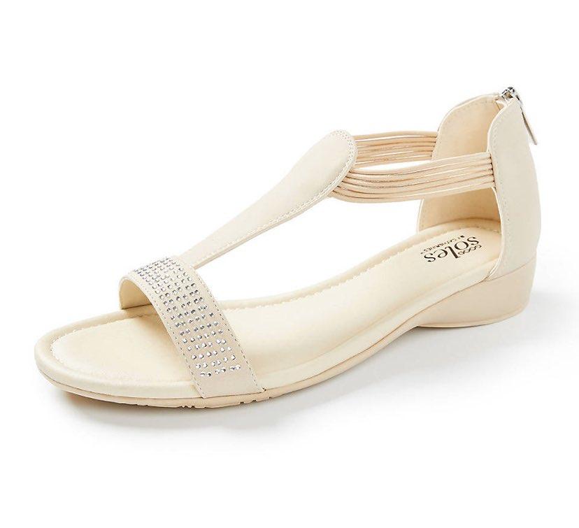 tan good soles sparkle sandals