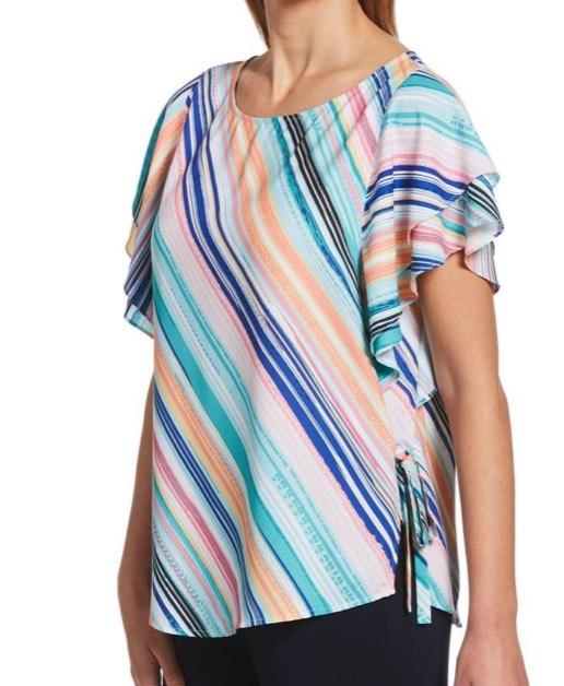 Flutter Sleeve Stripe Top from Rafaella