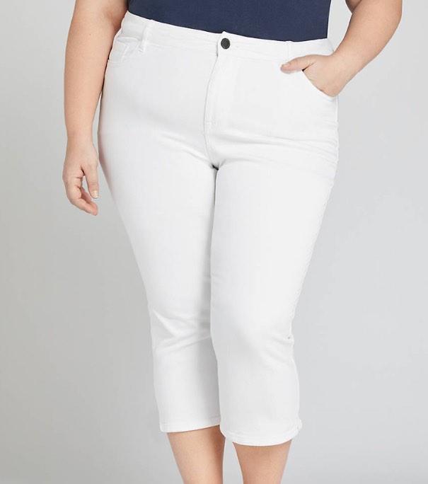 white plus size jeans