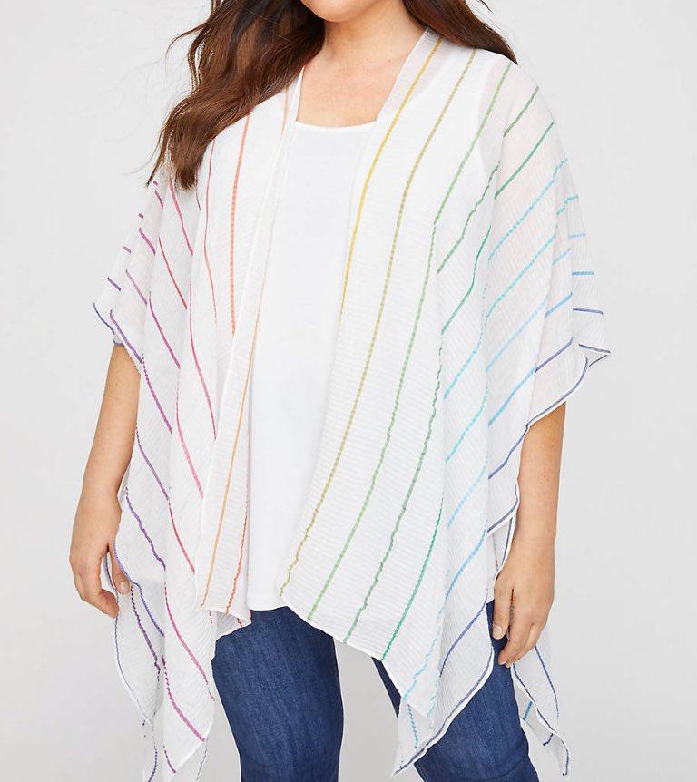 Rainbow Gauze Kimono from Catherines