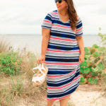 Look #2 Americana Style Striped Knit Dress From Lane Bryant