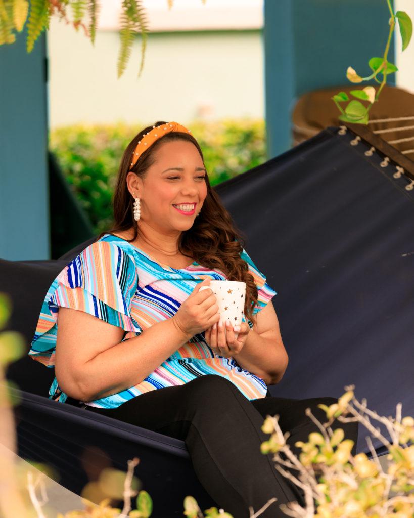 Farrah Estrella wearing Rafaella Sportswear