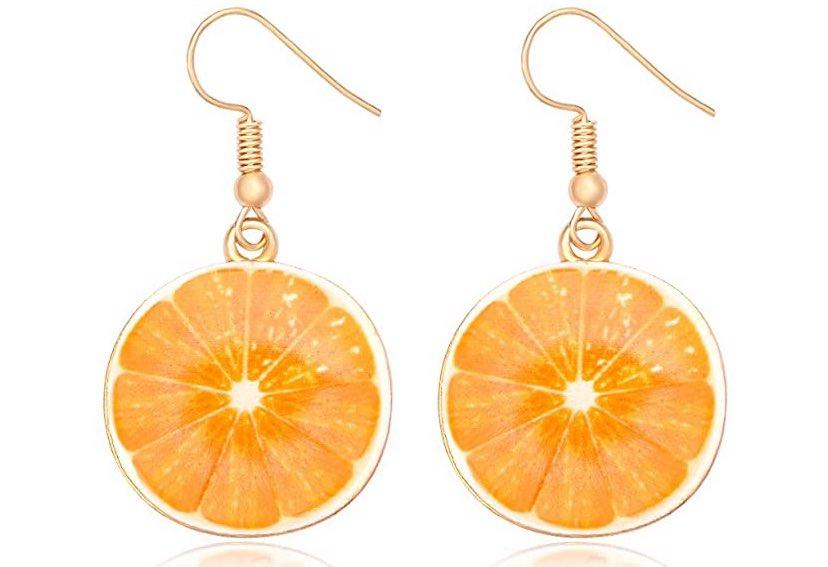 Orange shaped earrings