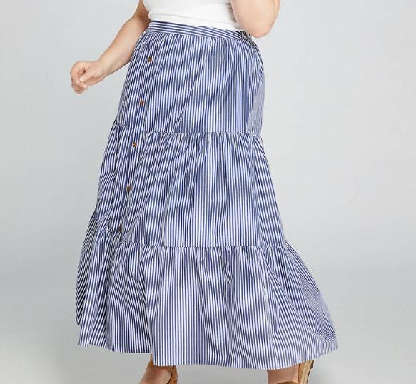 Poplin Stripe Skirt