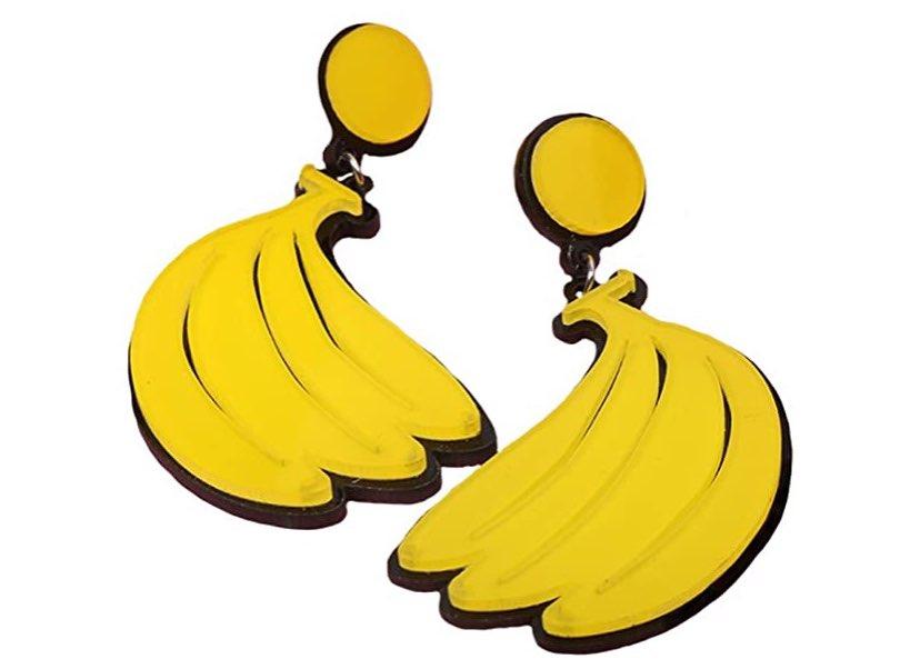 Banana shaped earrings