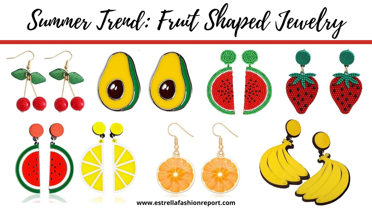 summer trend fruit shaped jewelry
