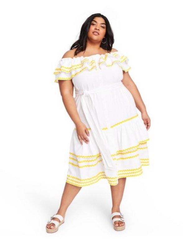 Ric Rac Off The Shoulder Dress