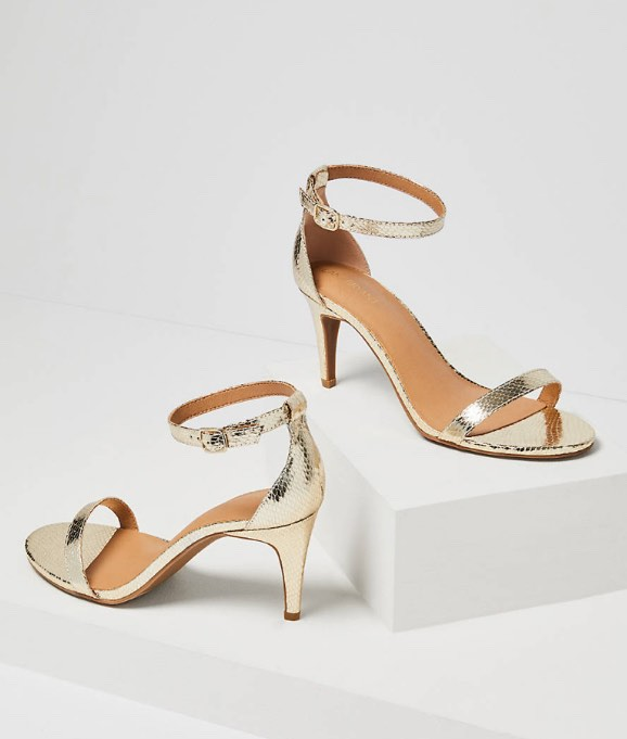 Gold Ankle Strap Heel