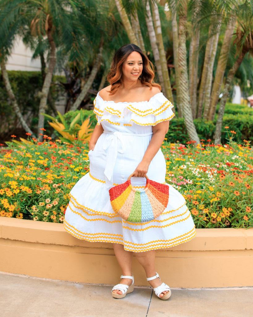 Lisa Marie Fernandez x Target Ric Roc Trim Dress