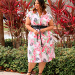 Bold Floral & Palm Print Dress From Rafaella Sportswear